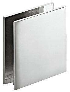 Держатель для стекла 8-12мм, хромированный, закругленный