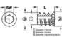 Муфта для ввинчивания M6/12x15 SW6