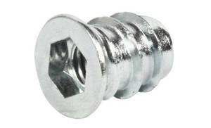Муфта для вкручивания М8 12х18 мм, сталь оцинкованная