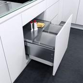 Выдвижная система сортировки VS ENVI Space (Эколайнер), ширина корпуса 450мм, двойное разделение, 2*16 л