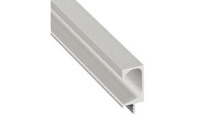Профильная ручка планка для деревянных дверей 19.5х2500 мм алюминиевая серебрянная