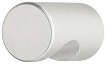 Мебельная ручка-кнопка d 15x22 мм алюминиевая серебрянная
