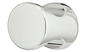 Мебельная ручка-кнопка цилиндрической формы d 20x25 мм цамак хромированная