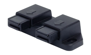 Фиксатор магнитный для стекла двойной черный
