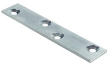 Пластина соединительная 4 отверстия 80х15х2