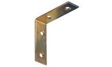 Уголок 50х50 мм, сталь, желтое хромирование