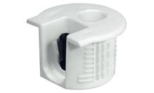 Корпус стяжки RAFIX SE без утолщения пластиковый белый D20мм глубина сверления 14.2мм