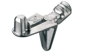 Полкодержатель цамак никелированный для деревянной полки с шипом d5 мм