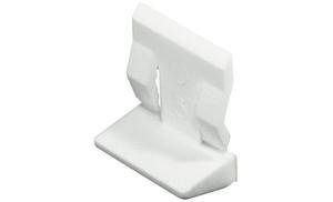 Полкодержатель с защелкой 5 мм (белый)