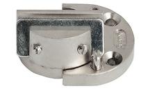Петля для стекла 6-8 мм цамак никелированная матовая