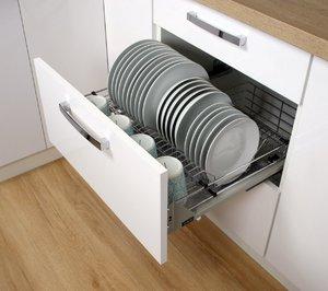 Сушка для посуду висувна в ящик висока 600 мм