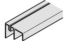 Шина направляющая SLIDO CLASSIC 50/70 VF нижняя двойная алюминий цвет: серебристый 2.5м