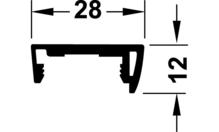Профиль для ходовой шины пластмасса серебристая 4.9м