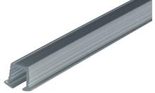 Шина ходовая одинарная пластик Цвет: серебряный 2.0м