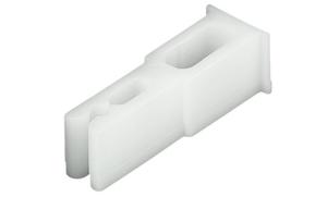 Упор дверного полотна, пластмасса, белая