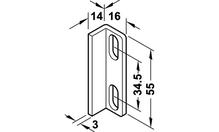 Уголок ограничительный для задних накладных дверей STARTEC 30IF сталь оцинкованная