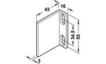 Уголок ограничительный для передних накладных дверей STARTEC 30IF сталь оцинкованная