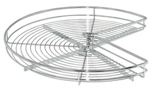 Корзина проволочная поворотная 3/4 круга сталь хромированная полированная D820мм 900x900мм
