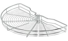 Корзина ARENA поворотная на 1/2 круга стальная хромированная полированная D850мм