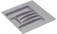Лоток для столовых приборов, пластиковый Серый 500-550 мм