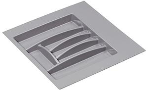 Лоток для столовых приборов, пластиковый cерый 600 мм