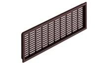 Вентиляционная решетка 175x41 мм, коричневая