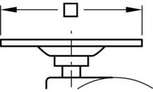 Ролик поворотный D50 мм, платформа 42х42мм, с фиксатором, черный