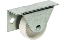 Ролик плоский, не поворотный 40 кг, D35 мм, оцинкованный, ролик белый