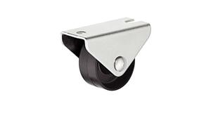 Мебельный ролик 25 мм, 20 кг, Н28 мм, не поворотный для твердой поверхности
