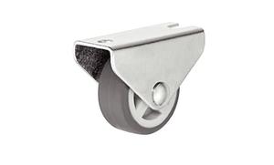 Ролик мебельный стальной 32мм D27мм нагрузка 20кг для мягкой поверхности