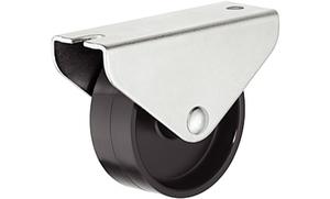 Мебельный ролик 45 мм, 50 кг, Н48,5 мм, не поворотный для твердой поверхности
