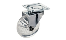 Ролик мебельный прозрачный  H75 мм, D50мм нагрузка 75кг