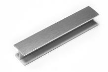 Соединитель прямой односторонний для цоколя 180 ° ПВХ H100 покрытие фольга cатин под цоколь рифленый