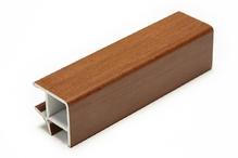 Соединитель угловой односторонний для цоколя 90 ° ПВХ покрытие бумага орех H100