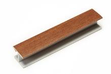 Соединитель угловой односторонний для цоколя 180 ° ПВХ покрытие бумага орех H100