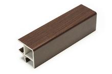 Соединитель угловой односторонний для цоколя 90 ° ПВХ покрытие бумага венге H100