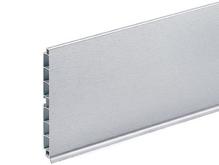 Цоколь ПВХ покрытие фольга глянец серый 8011 Н 100 мм