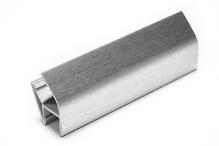 Соединитель угловой односторонний для цоколя 135 ° ПВХ H120 покрытие фольга cатин под цоколь рифленый