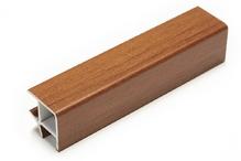Соединитель угловой односторонний для цоколя 90 ° ПВХ покрытие бумага орех H120