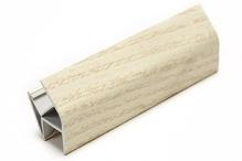 Соединитель угловой односторонний для цоколя 135 ° ПВХ покрытие бумага ясень H100