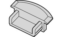 Заглушка пластиковая цвет: серебреный (к 833.72.705)