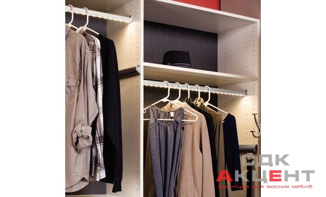 Штанга гардеробная для лент led 2013/2015 алюминий цвет: сер.