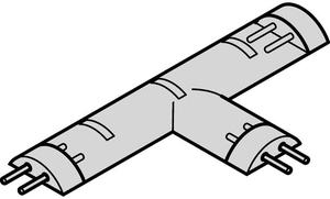 Соединитель Т-образный для ленты LED LOOX BASIC 3528 IP65 3200К