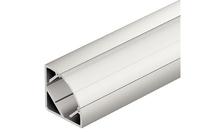Профиль для лент LED 2013/2015/3013/3015 алюминий серебристый 14х28х2500мм угловой молочный