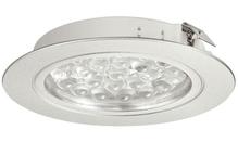 Светильник LED 3001 врезной алюминиевый цвет: серебряный 24V/1.7W холодный белый свет D65мм