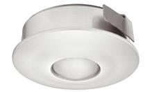 Светильник LED 4005 350mA/1W врезной пластиковый цвет: серебряный теплый белый свет D30мм (3 штуки)