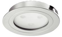 Светильник LED 4009 350mA/3W врезной алюминий никелированный матовый, теплый белый свет D65мм