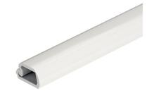 Защитный профиль самоклеющийся для кабелей LED пластиковый белый RAL 9010 2500мм