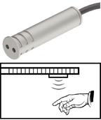 Сенсорный выключатель пластиковый серебряный 60мм D13мм