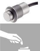 Выключатель кнопочный пластик серебристый 24мм D13мм